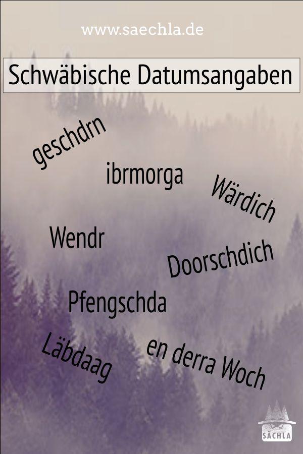 Schwäbische Datumsangaben